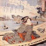 """Woman in a Boat on the Sumida River"" by ArtLoversOnline"