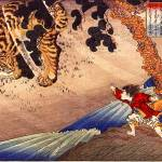"""Yoko Protecting His Father from a Tiger"" by ArtLoversOnline"