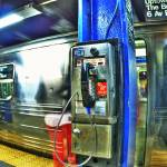 """NY subway pay phone"" by colbertimages"