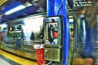 NY subway pay phone
