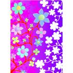 """Bling Florals 12 (pink, purple, blue, white flower"" by DezineZone"