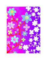 Bling Florals 12 (pink, purple, blue, white flower