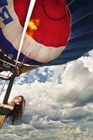 Girl in a Hot Air Balloon