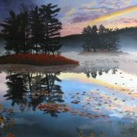 Lake at Dawn Art Prints & Posters by Kevin Mowatt