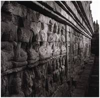 Ancient Wall Relief at Borobudur