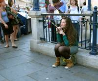 London talking girl