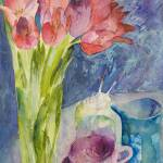 """Arched Tulips"" by carolinekaye"