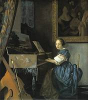 A Lady Seated at the Virginal