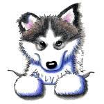 """""""Alaskan Malamute Puppy"""" by KiniArt"""