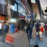 """Urban shoppers, downtown NYC, loading big, flat-pa"" by p0ps"