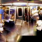 """Outbound J train summer evening commute - patch pa"" by p0ps"