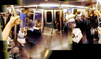 Outbound J train summer evening commute - patch pa