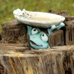 """Happy Toad Birdbath"" by rayjacque"