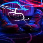 """light painted nike dunks"" by behere_now"