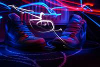 light painted nike dunks