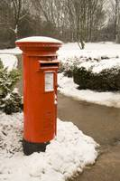 Postbox set in the snow
