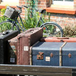 """Old fashioned luggage"" by SueLeonard"