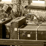 """Luggage B&W"" by SueLeonard"