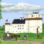 """Caerlaverock Castle"" by Longlinestudio"