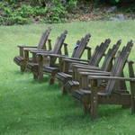 """Six Adirondack chairs"" by SueLeonard"