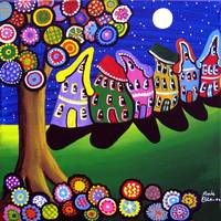 Whimsical Houses and Trees