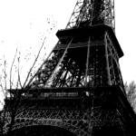 """Greyscale Eiffel Tower"" by Nixie17"
