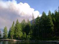 Domke Lake fire