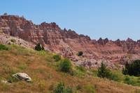 distant red cliffs