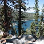 """Rocks Trees and Emerald Bay"" by Groecar"
