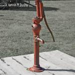 """red water pump"" by lwoodburn"