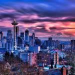 """Blazing Seattle Sunset"" by Surrealize"