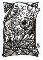 fishy doodle atc traded with margaret