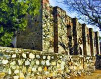 Side Wall of the Old Church in La Aduana