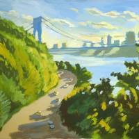 George Washington Bridge Art Prints & Posters by Roger White