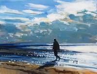 Study for Man Walking Along the Beach