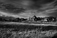 South Dakota Badlands - The Landscape BW