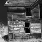"""Dilapidated - Ghost Town Okaton South Dakota in BW"" by WaynePhotoGuy"