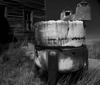 Wash Machine - Ghost Town Okaton South Dakot in BW