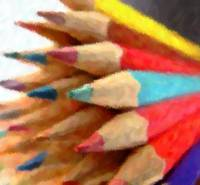Water Painting of Pencils