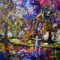 Savannah Georgia Impressionist Oil Painting by Gin