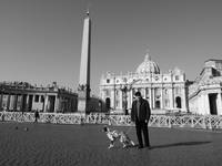 Man and his Dog - St Peters Square, Vatican City 0