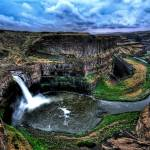 """Palouse Falls Summer Storm"" by Surrealize"