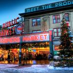 """Pike Place Market At Christmas"" by Surrealize"