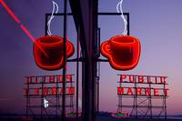 Pike Place Market Neon Coffee