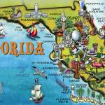 """Florida Cartoon Map"" by FunGraphix"