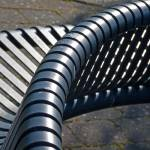 """Park Bench Abstract, Milgarholm Park, Irvine."" by CSW1967"