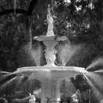 """Savannah Fountain No. 1, Georgia"" by PadgettGallery"