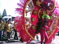 Dancers at Trinidad Carnival, Playing Mass