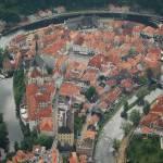 """Cesky Krumlov aerial photo"" by jara"