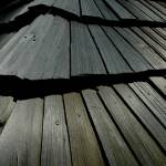 """Wooden strip slates roof"" by jara"